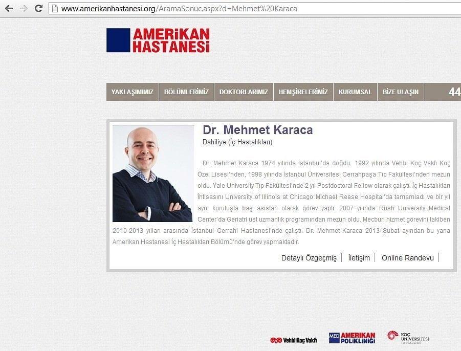 Profesyonel İş Portre Fotoğraf Çekimi Mehmet Karaca AmerikanHastanesi